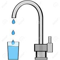 21491046-Illustration-de-dessin-anim-montrant-l-eau-sortant-d-un-robinet-et-dans-un-verre-Banque-d'images