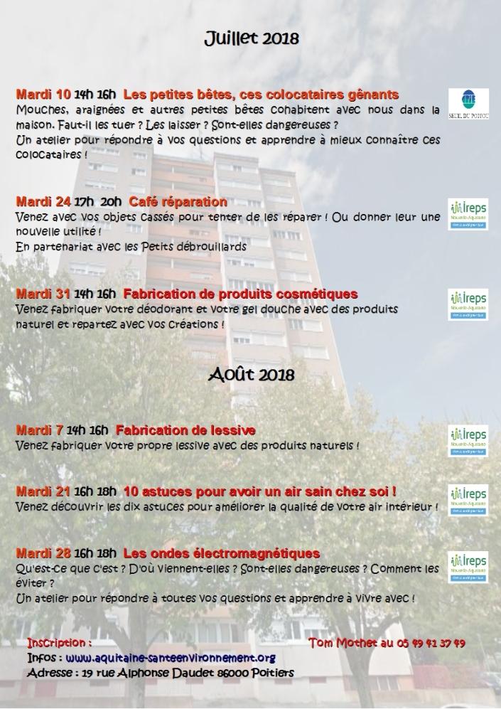 Programme Juillet aout 2018