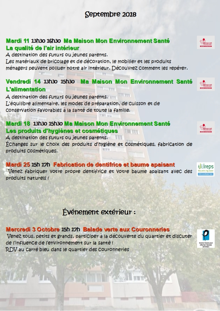 Programme Septembre
