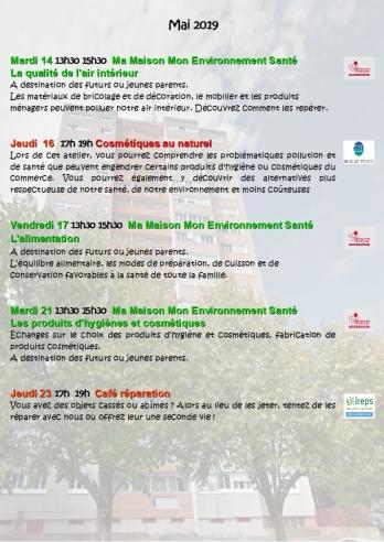 Programme Mai Juin 2019