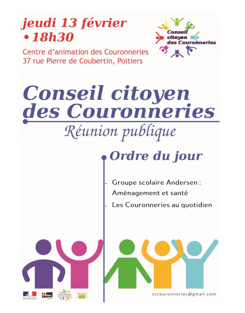 Invitation du Conseil Citoyen des Couronneries, une réunion publique où il sera question de Santé-Environnement