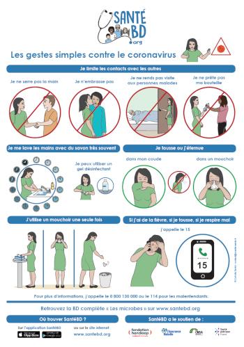 Les bons gestes contre le coronavirus
